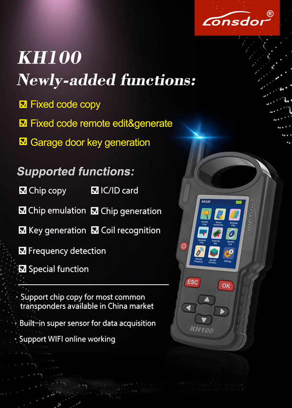 KH100 newly added functions