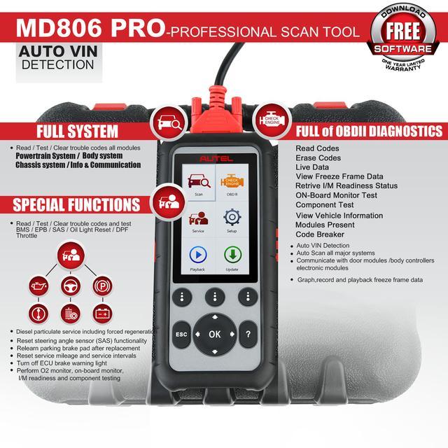 Autel MaxiDiag MD806 Pro OBD2 Scanner Full System Diagnostic