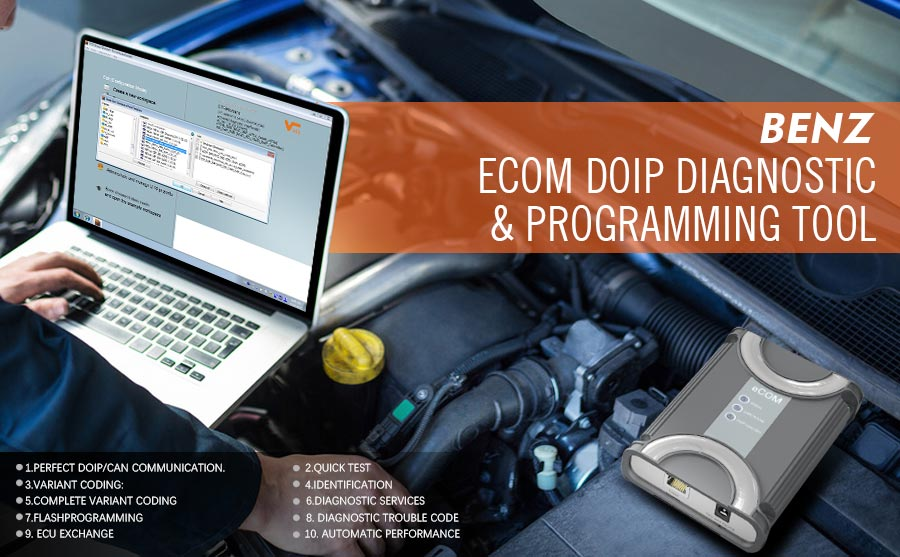 Benz ECOM Doip Diagnostic & Programming Tool