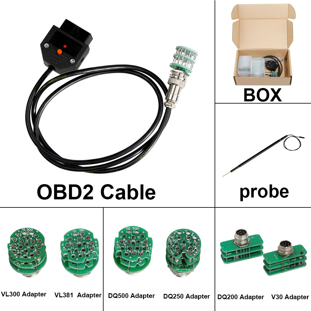 Full Set Adapters for KTM FLASH KTMFLASH Car ECU Programmer Transmission Power
