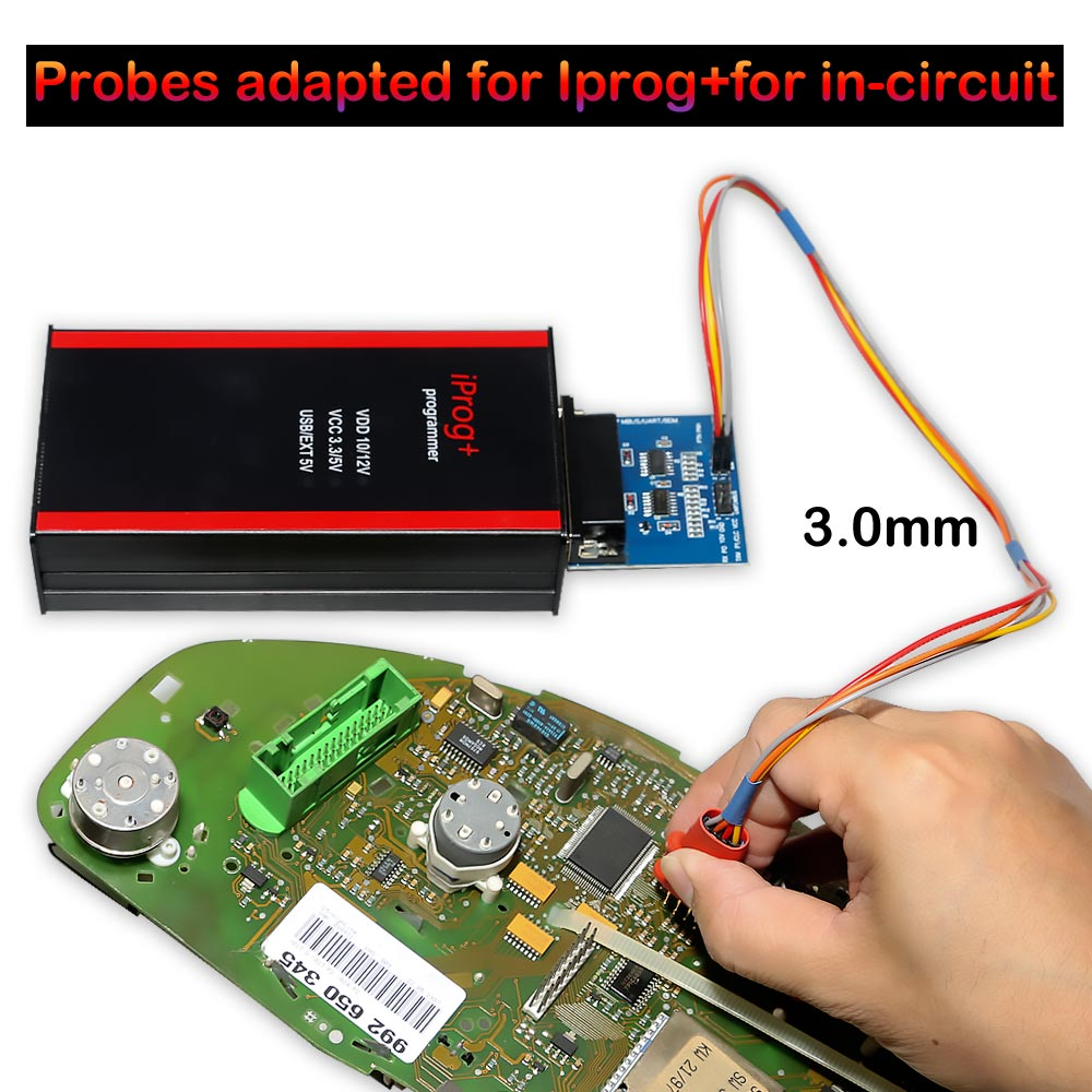 Probes adapted for IPROG+  in-circuit 3mm