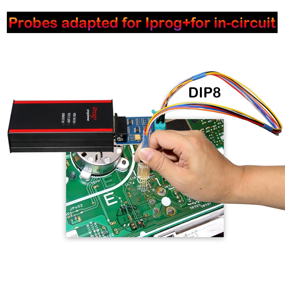 Probes adapted for IPROG+  in-circuit DIP8