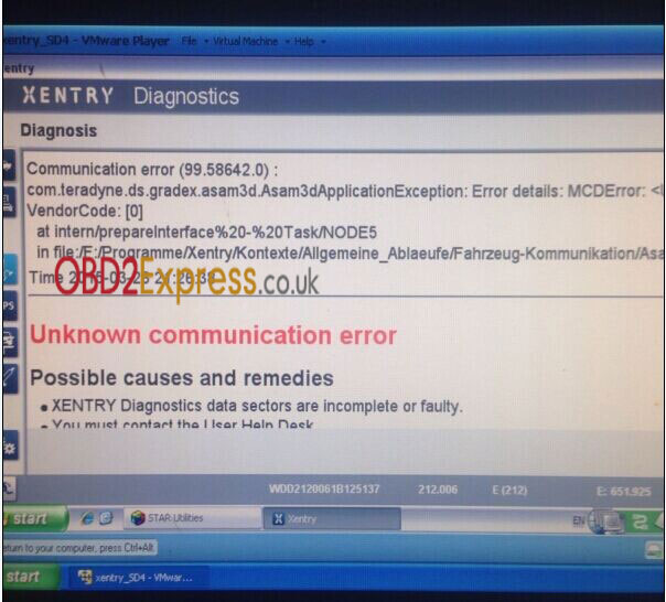 benz star software error solution