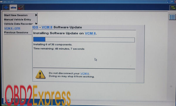 how to update the firmware for VCM II VCMII