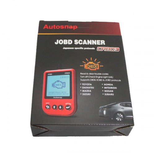 Red CR803 JOBD Code Reader English/Italian/Czech Version