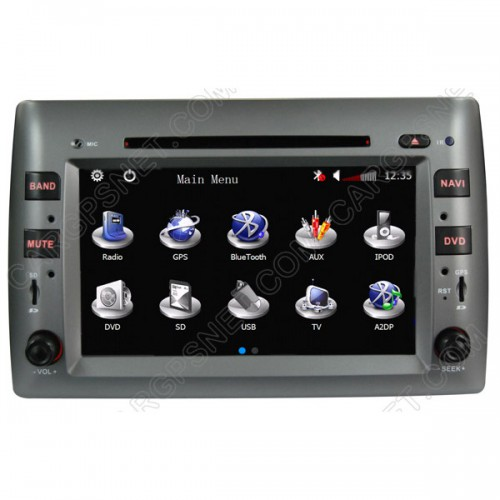 2002-2010 Stilo GPS Navigation DVD with Radio TV for Fiat