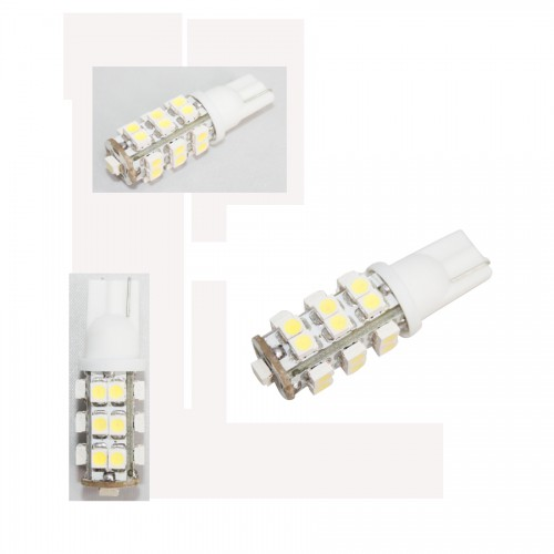 2 X 25 SMD LED White Car Wedge Light Bulb T10 12V 5W