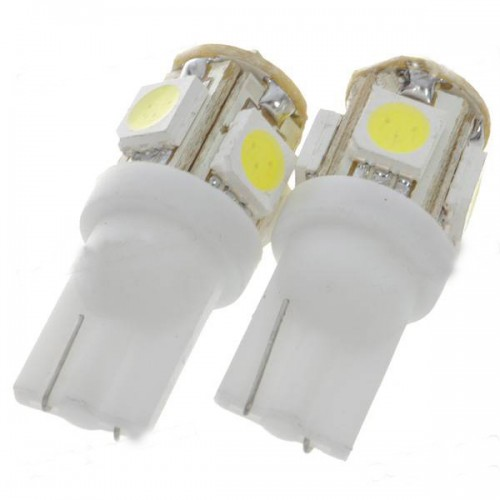 T10 194 W5W BULB 5SMD WEDGE CAR WHITE LED LIGHT 100pcs/lot