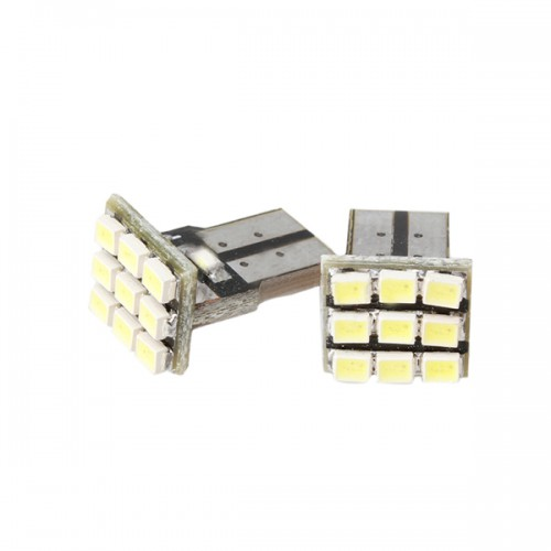 New T10 9 SMD 194 168 501 W5W Bright White LED Wedge 2pcs/lot