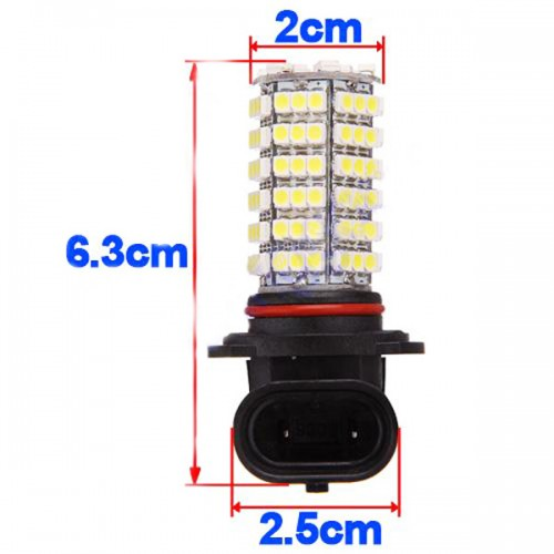 Car 120 LED 3528 SMD HB3 9005 HID White Fog Day Xenon DRL Light Lamp Bulb 12V