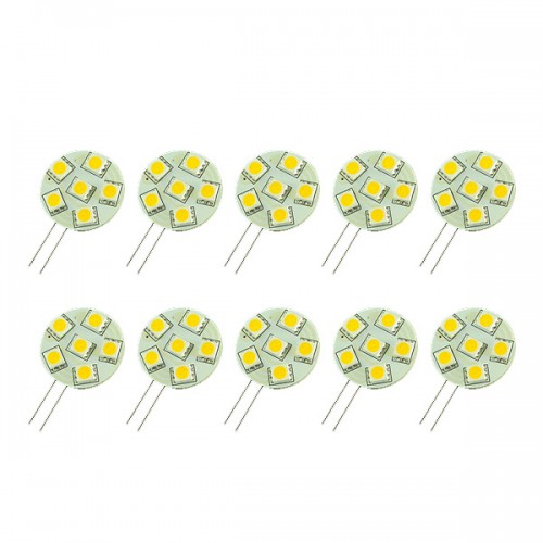 G4 6 SMD 5050 LED Bulb Lamp Warm White Light 12V Car Marine Lighting 60 LM 10pcs/lot