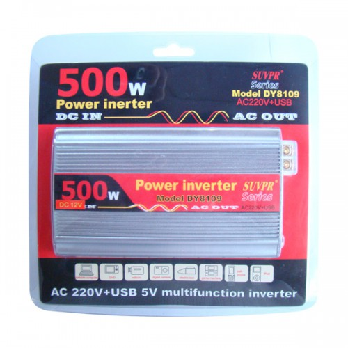 500W USB Car Inverter DC 12V to AC 220V