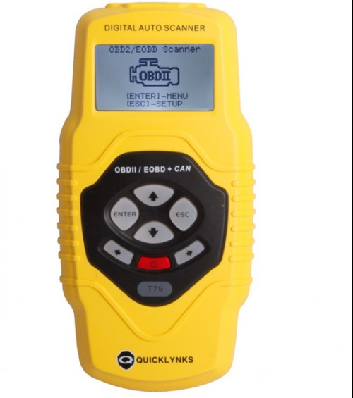 QUICKLYNKS Highend Diagnostic Scan Tool OBDII auto scanner T79 (yellow, multilingual,updatable)