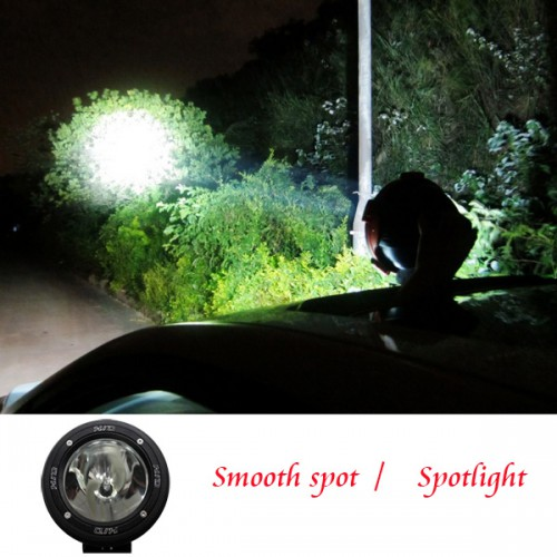 "2 PCS 75W 4"" Inch HID XENON DRIVING SPOTLIGHTS OFF ROAD Lights 4x4 4WD 12V 24V 6000K"