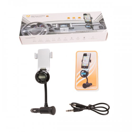 iPhone 3-in-1 Car Kit - Car FM Transmitter + Car Charger + Car Holder