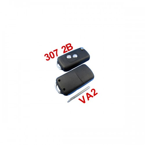 Remote Key Shell 2 Button VA2 for Citroen ( 307 without groove) 5pcs/lot