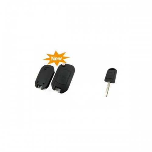 modified flip remote key shell 2 button for Opel (HU43) 5pcs/lot