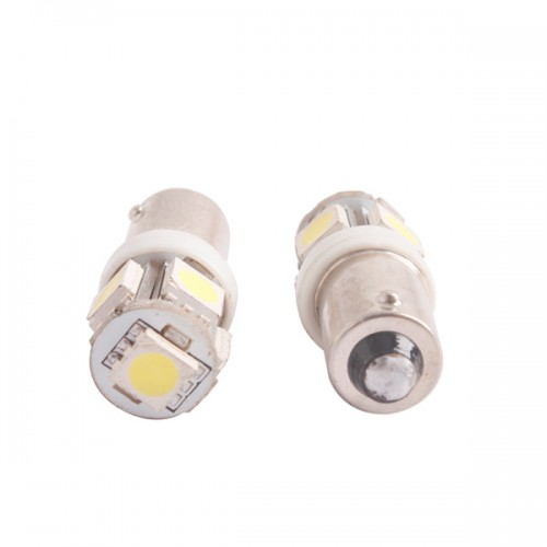 T11 BA9S White 5050 5 SMD LED Car Light Bulb Lamp 12V 2pcs/lot