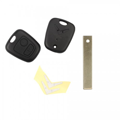 Remote Key Shell 2 Bbutton HU83 (with groove) for Citroen 5pcs/lot