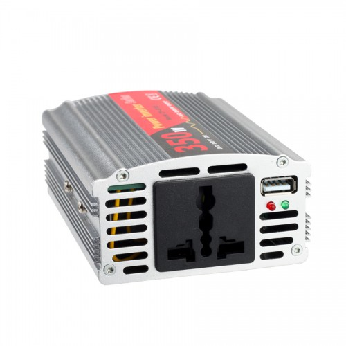 350W USB Car Power Inverter DC 12V to AC 220V