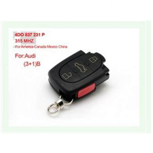 3+1 Remote 4DO 837 231 P 315Mhz For America Canada Mexico China for AUDI