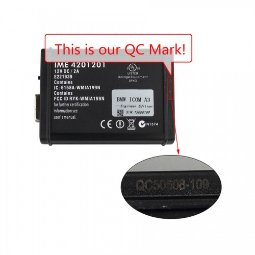 ICOM A3 B C Diagnostic Tool for BMW FW V138 with 2018.09 Software HDD