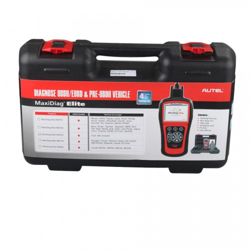 Original Autel Maxidiag Elite MD703 for 4 system With Data Stream Function Free update online