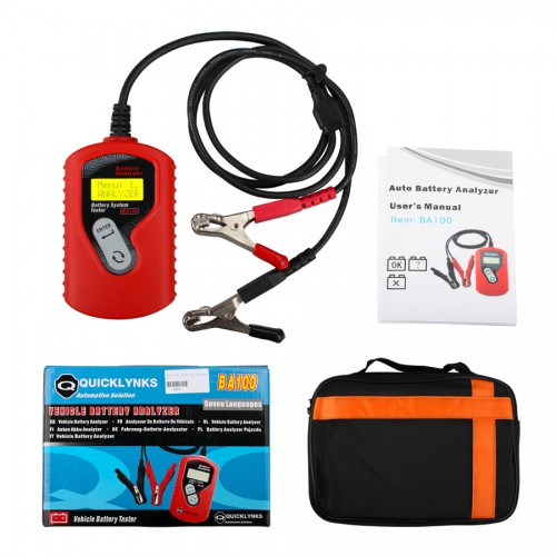 QUICKLYNKS BA100 Vehicle Battery Analyzer