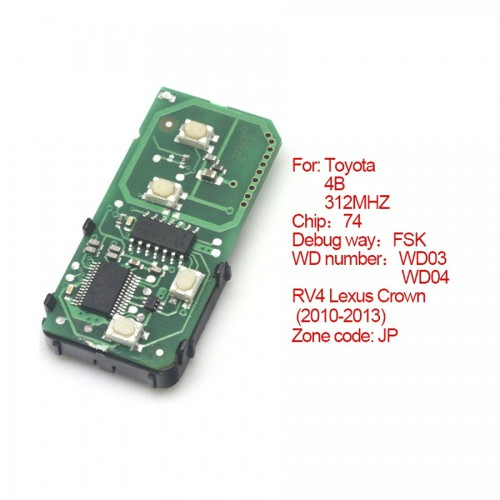 Smart card board 4 key 312MHZ for Toyota number 271451-5290-JP