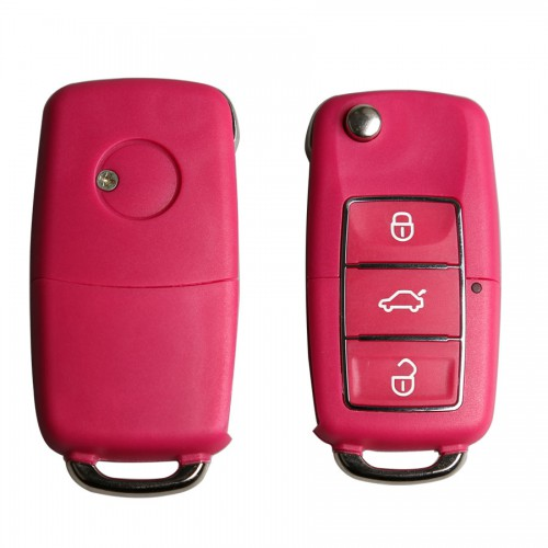 Remote Key Shell 3 Buttons for Volkswagen B5 Type with Waterproof Red 5pcs/lot
