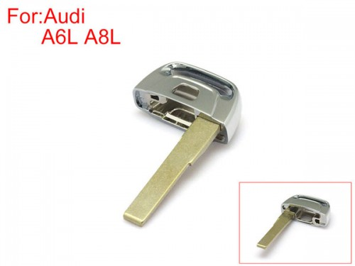 Smart Remote Emergency Key HU66(Without groove , Without logo)for Audi A6L A8L 10pcs/lot Free Shipping