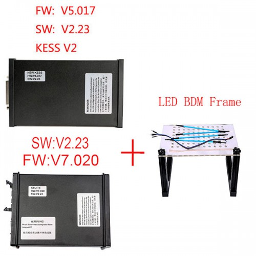V5.017 KESS Master Plus V7.020 KTM100 KTAG Master Plus LED BDM Frame Package Offer Get ECM TITANIUM V1.61 for free