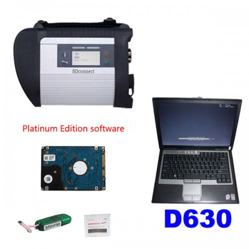 MB SD Connect Compact C4 with V2017.12 Platinum Edition Software plus DELL D630 4G RAM laptop