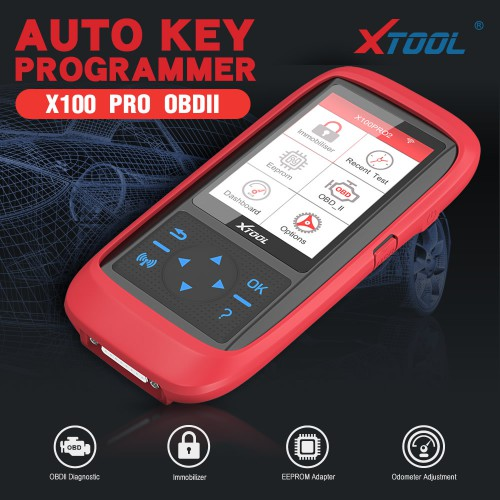 [Ship from UK] XTOOL X100 Pro2 Car Key Programmer Support IMMO OBDII Diagnostic Odometer Correction With EEPROM Adapter Update Online