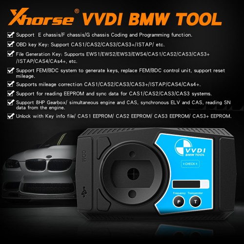 [UK Ship, No Tax] V1.6.2 Xhorse VVDI BMW Immobilizer, Coding and Programming Tool Support Odometer Correction