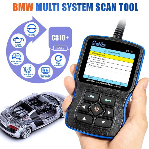 V11.7 Creator C310+ Multi System Scan Tool for BMW Support English & Deutsch language
