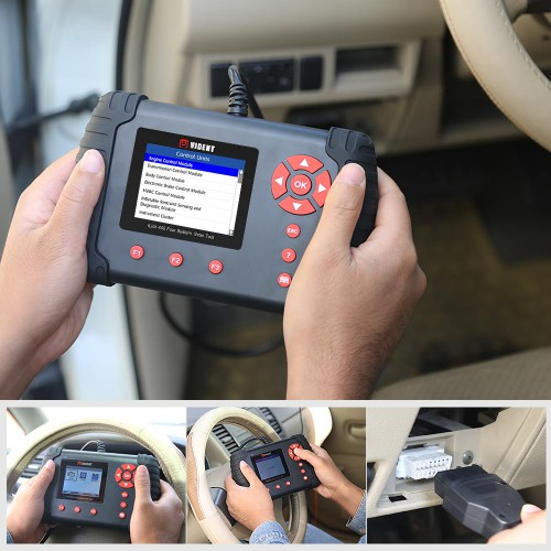 Original VIDENT iLink440 Four System Scan Tool Supports Engine ABS Air Bag SRS EPB Reset Battery Configuration 3 years free software update