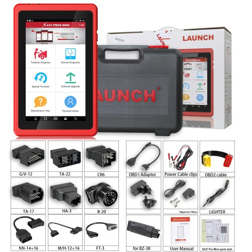 Launch X431 X-431 ProS Mini Multi-system Multi-brand Diagnostic & Service Tool