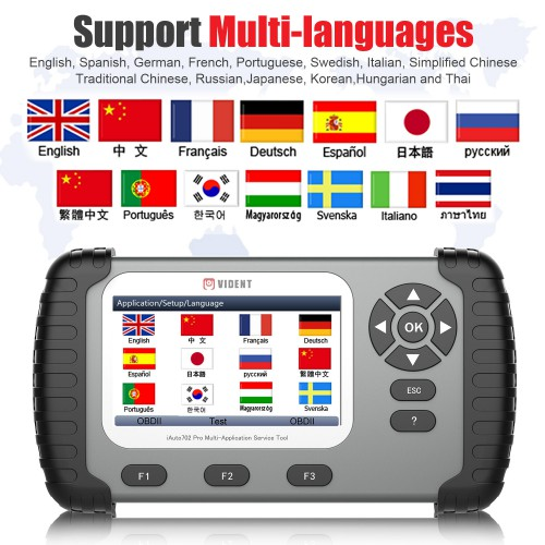 [EU/UK Ship, No Tax] VIDENT iAuto702 iAuto 702 Pro Multi-applicaton Service Tool Support ABS/ SRS/ EPB/ DPF 3 Years Update for Free