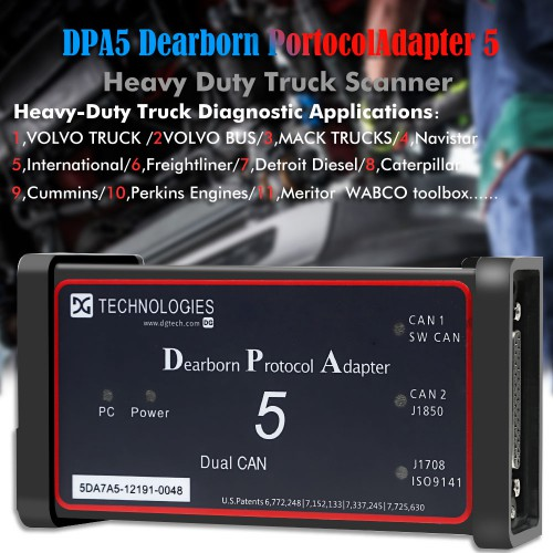 DPA5 Dearborn Protocol Adapter 5 Heavy Duty Truck Scanner without bluetooth(Choose SH47-B2)