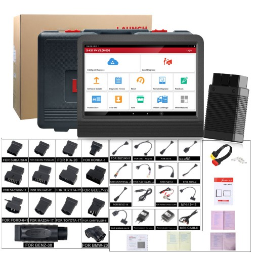 [EU Ship, No Tax] Original Launch X431 V+ X431 PRO3 4.0 Full System Diagnostic Tool Global Version 2 Years Free Update