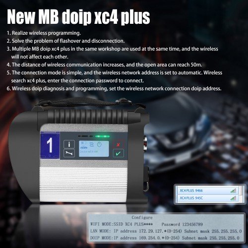 V2020.09 MB SD C4 Plus Connect Compact 4 Benz Star Diagnosis Supports DoIP Protocol with Software HDD