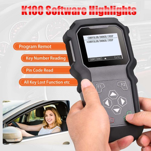 GoDiag K100 CHRYSLER/ JEEP Hand-held Key Programmer