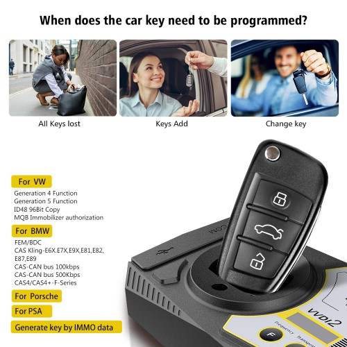 Xhorse VVDI2 Full Version (All Software Activated)  [ With Mini Key Tool + BMW FEM/ BDC Test Platform + 8 pcs super remotes ]