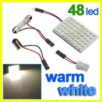Car Interior 48 SMD LED Bulb Lamp Light Panel White New