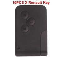 10pcs 3 Button Smart Key 433MHZ for Renault