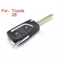 Modified Flip Remote Key Shell 2 Button for Toyota 5 Pcs/lot