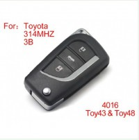 modified remote key 3 buttons 314MHZ for Toyota (not including the chip)