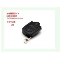 3 Button 4DO 837 231 A 433.92Mhz For Europe South America for AUDI