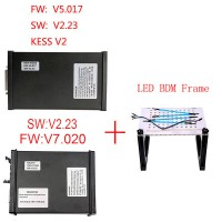 V5.017 KESS Master Plus V7.020 KTM100 KTAG Master Plus LED BDM Frame Package Offer Get ECM TITANIUM V1.61 for free Shipping From UK